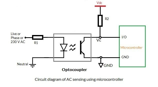 Sensing AC voltage using microcontroller – bytesofgigabytes.com on rf probe schematic, cable tester schematic, transistor tester schematic, multimeter schematic, voltage detector circuit, function generator schematic, ph meter schematic, pulse generator schematic, signal tracer schematic,