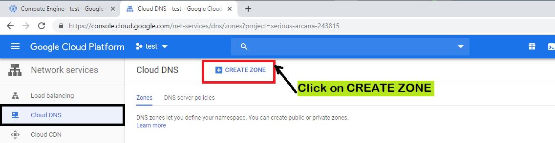 Google Cloud DNS- Accessing a VM instance using Domain Name