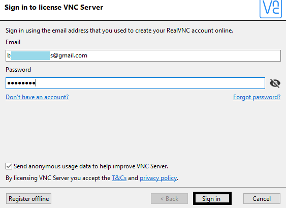 VNC Access another computer remotely