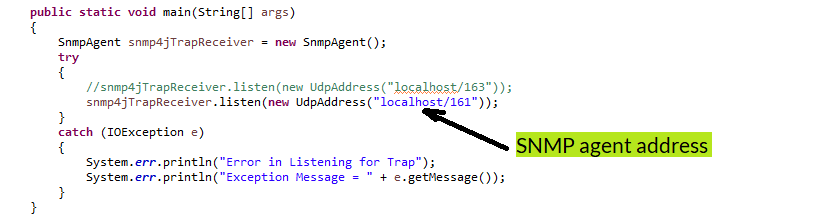java snmp agent address