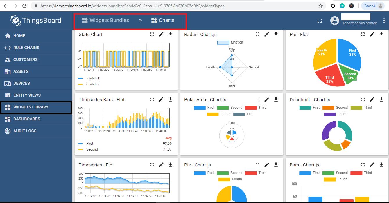 Thingsboard Widgets | bytesofgigabytes com
