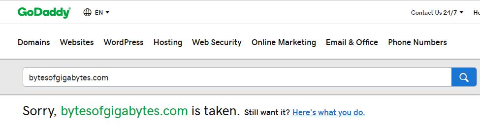 How to Buy a domain name   bytesofgigabytes com